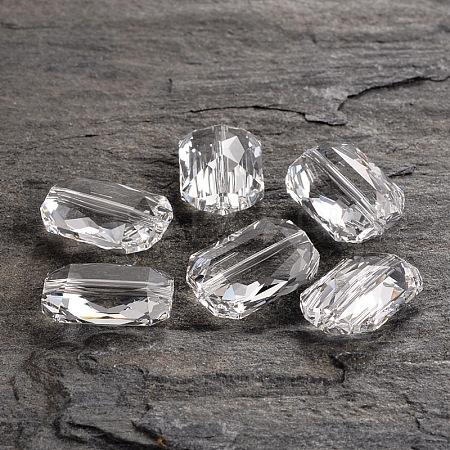 Austrian Crystal Faceted Emerald Cut Beads5515-18x12.5-001(U)-1
