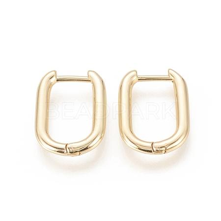 Brass Huggie Hoop EarringsEJEW-F245-04G-A-1