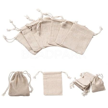 Cotton Packing Pouches Drawstring BagsX-ABAG-R011-8x10-1