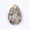 Synthetic Aqua Terra Jasper Pendants G-S329-036-3