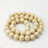 Natural Fossil Beads StrandsX-G-E110-4mm-2-2