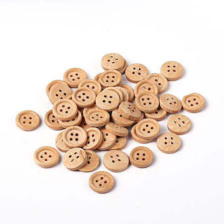 Natural Round 4 Hole Buttons X-NNA0VFH-1
