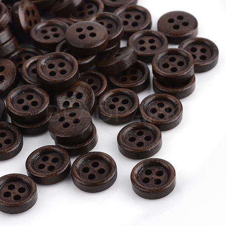 4-Hole Dyed Wood ButtonsX-WOOD-S663-09-1