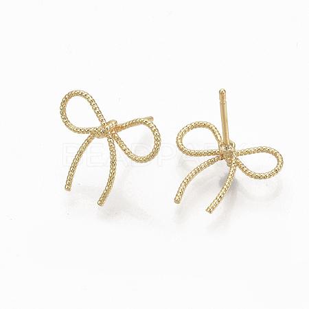 Brass Stud EarringsX-KK-Q762-018G-NF-1