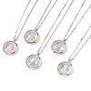 304 Stainless Steel Venetian Chain Pendant NecklacesNJEW-JN02217-1
