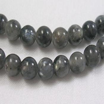 Natural Labradorite Beads Strands, Round, about 4mm, Hole: 0.8mm; about 91pcs/strand, 15.5