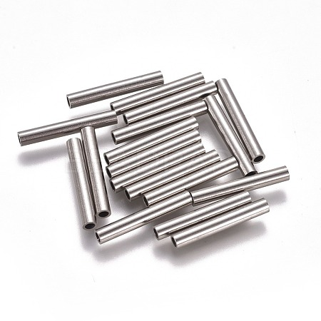 304 Stainless Steel Tube Beads STAS-F224-01P-F-1