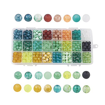 Glass Beads GLAA-JP0001-08-8mm-1