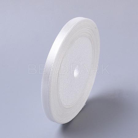 1/4inch(7mm) White Satin Ribbon Wedding Sewing DIYX-RC012-42-1