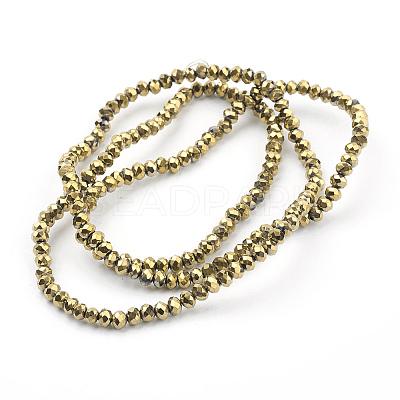 Electroplate Glass Beads StrandsEGLA-J025-F05-1
