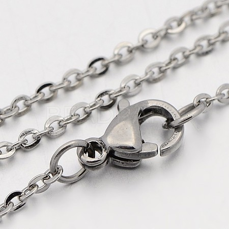 304 Stainless Steel Cable Chain NecklacesSTAS-O053-07P-1