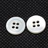 Flat Round River Shell ButtonsBUTT-I014-05-2