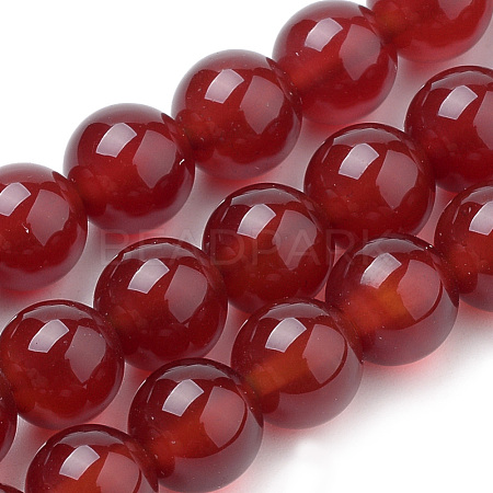 Natural Carnelian Beads Strands G-S259-32-6mm-1