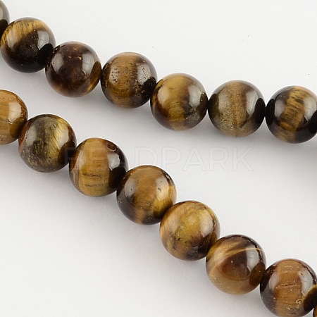 Natural Tiger Eye Round Bead Strands X-G-R200-8mm-1