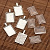Alloy Rectangle Pendant Cabochon Settings and Transparent Rectangle Glass Cabochons DIY-X0234-AS-RS-1