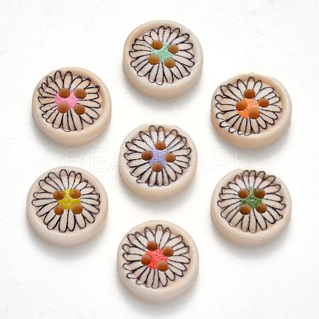 2-Hole Wooden ButtonsX-BUTT-N016-07-1