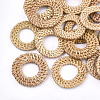 Handmade Reed Cane/Rattan Woven Linking Rings X-WOVE-T005-06A-1