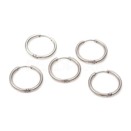 304 Stainless Steel Huggie Hoop EarringsEJEW-L250-01K-P-1