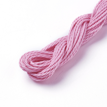 Waxed Polyester Cord, PearlPink, 1mm; about 8.96~9m/roll
