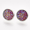 201 Stainless Steel Stud Earrings EJEW-T005-JN114-7-1