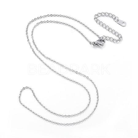 304 Stainless Steel NecklacesNJEW-E080-10P-1
