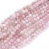 Natural Rose Quartz Beads StrandsX-G-F591-04C-8mm-1