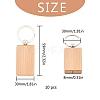 Wood KeychainWOOD-I004-62-2