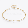 304 Stainless Steel Anklets X-AJEW-H013-04G-1