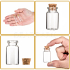 Glass Jar Glass Bottles Bead Containers AJEW-S074-02B-4