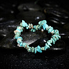 Natural Turquoise Chips Stretch BraceletsBJEW-BB16534-F-6