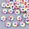 Rainbow Color Handmade Polymer Clay Beads StrandsX-CLAY-R091-6mm-02-2