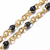 304 Stainless Steel Cable Chain Anklets AJEW-H010-01-3