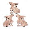 Wooden CabochonsX-WOOD-S040-79-1