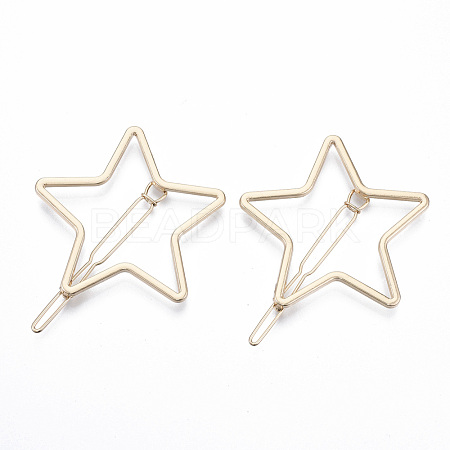 Alloy Hollow Geometric Hair Pin PHAR-N005-014G-1