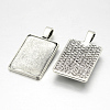 Alloy Rectangle Pendant Cabochon Settings and Transparent Rectangle Glass Cabochons DIY-X0234-AS-RS-4