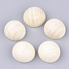 Unfinished Natural Wood Cabochons X-WOOD-S052-01D-1