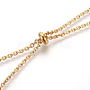 304 Stainless Steel Lariat Necklaces NJEW-O107-02G-4