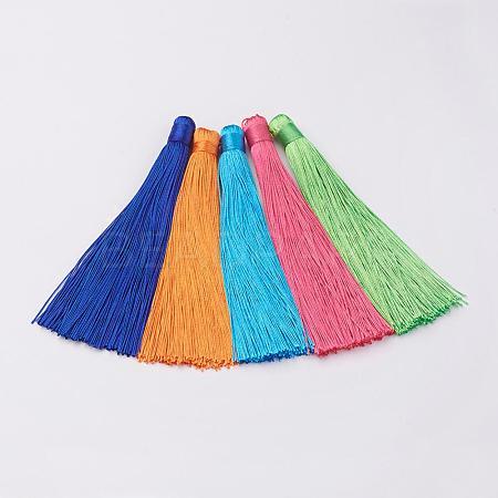 Nylon Tassels Big Pendant DecorationsHJEW-G010-B-1