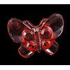 Kawaii Kid's Garment Accessories Transparent AB Color Acrylic Butterfly Sewing Shank ButtonsX-PCA195Y-2
