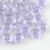 Flower Transparent Glass BeadsX-GLAA-R160-08-1