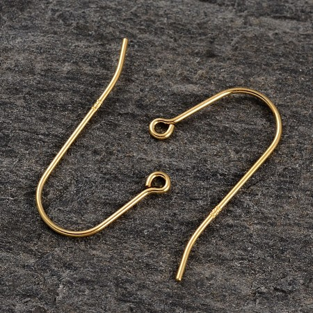 Real 18K Gold Plated Sterling Silver Earring HooksX-H400-G-1