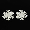 Dyed Snowflake Wood Cabochons X-WOOD-R240-17-1