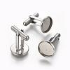 304 Stainless Steel Cufflinks SettingsSTAS-E471-03D-P-2
