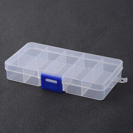 Stationary 10 Compartments Rectangle Plastic Bead Storage ContainersX-CON-M005-01-1