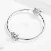 925 Sterling Silver Euorpean BeadsSTER-FF0013-02-5