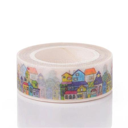 Buildings DIY Scrapbook Decorative Adhesive TapesDIY-K001-C-10-1