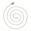 304 Stainless Steel Cable Chain Necklace MakingNJEW-S420-008C-P-2
