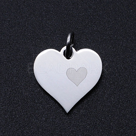 Valentine's Day 201 Stainless Steel Charms STAS-T049-T678-1-1